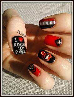 Manicure, Gel Nails, Acrylic Nails, Nail Polish, Band Nails, Rock Nails, Trendy Nails, Cute Nails, Rock N Roll