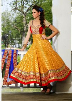 Beautiful Designer Silk Salwar suit with heavy dupatta.. Ready to ship Contact us at 9769037711  visit us at www.fashionemporia.in