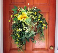 Summer wreath greenery wreath cottage by SouthernBornNBlessed