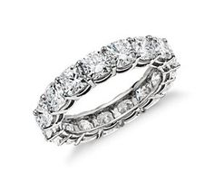 10 year anniversary ring....Cushion-Cut Diamond Eternity Ring in Platinum (5 ct. tw.)