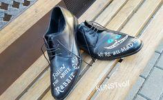 handpainted shoes - alice in wonderland handbemalt nach Wunsch - Grinsekatze