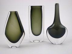 DUSK SERIES vases by Nils Landberg for Orrefors:
