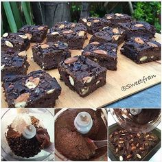 Lo prometido es deuda✨acá el Brownie de poroto negro (caraota,frijol)de la foto anterior, el helado no es mas que fruta congelada y procesada👌🏻. Brownie de porotos negros (caraotas, frijoles) Les he subido otras versiones, pero esta quedo superior🙌🙌🙌. Fuera los prejucios y prueben esta receta, que por lo demás es full nutritiva, contiene todos los aminoácidos esenciales, es decir proteína completa💪💥 👌 ✨Ingredientes: -2 tazas porotos negros cocidos y sin liquido (los cocino sin ningun… Sin Gluten, Gluten Free, Clean Recipes, Healthy Recipes, Paleo, Sweets, Instagram, Desserts, Fitspiration