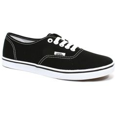 Vans Authentic Lo Pro Black White - 4.5 M Us Men / 6 M Us Women Shoes (2,015 DOP) ❤ liked on Polyvore