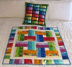 Quilting by the River: Stacked Rainbow tutorial