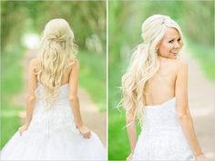 half up half down wedding hair - Google Search