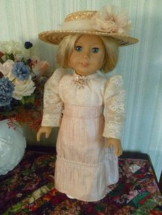 Victorian Walking Ensemble Jacket Skirt Blouse Hat for