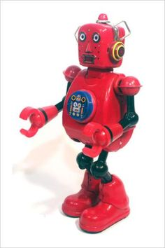 Tin Toy Robot | Vintage and Retro Space Age Raygun, Rocket and Robot #SciFi