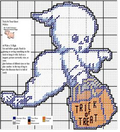 TRICK OR TREAT GHOST by CYNDI VELASQUEZ*PIGTASTIC PATTERN PIGGY -- WALL HANGING