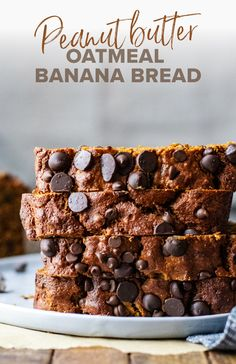 This peanut butter banana bread is fit for any occasion! It's super moist in texture, perfectly sweet in flavor, and made with super wholesome ingredients. You'll use oat flour instead of regular flour which makes this bread super hearty and gluten-free friendly. Every bite of this oatmeal banana bread is delicious and filled with banana flavor! | asimplepalate.com