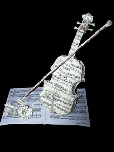 Music Book Sculpture—paper sculpture made out of your favorite music books