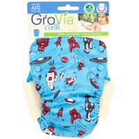 New GroVia prints #robot #clothdiapers AIO side snapping @diapershops