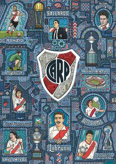 Escudo River Plate, Carp, Porsche Logo, Football Team, Digital Illustration, Ariel, City Photo, Plates, Cover