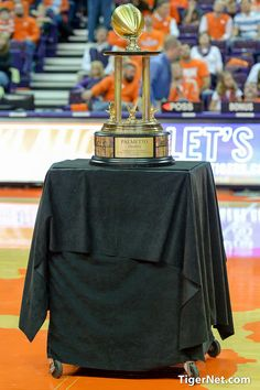 Palmetto Bowl Trophy Presentation - 2014 Clemson tigers