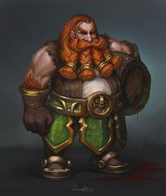 Dwarf, Junica Hots on ArtStation at https://www.artstation.com/artwork/LroWl