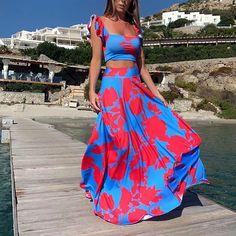 Buy Fleepmart Beach Long Print Retro Dress Vintage Casual Comfortable Elegant Boheme Chic Empire Slash Neck Summer Dress 2020 at fleepmart.com! Free shipping to 185 countries. 45 days money back guarantee.