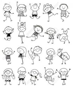 Drawing Sketch - Group Of Kids Royalty Free Cliparts, Vectors, And Stock Illustration. Image Drawing Sketch - Group Of Kids Royalty Free Cliparts, Vectors, And Stock Illustration. Doodle Art Drawing, Drawing For Kids, Drawing Sketches, Art For Kids, Children Drawing, Art Children, Sketching For Kids, Drawing Drawing, Children Clipart