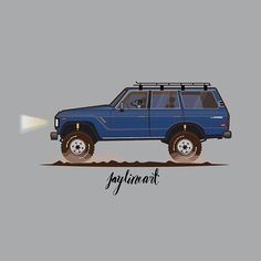 This blue landcruiser is belong to mr dustin, and his gorgeous dog . You can also order a car/rig do you want, just let me know by pm or email me. Thank you Hope you like it Fraternity Rush Shirts, Ranger Car, Toyota Lc, Motor Car, Motor Vehicle, Bike Trailer, Expedition Vehicle, Car Illustration, Jeep 4x4