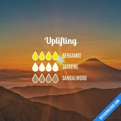 Uplifting - Essential Oil Diffuser Blend #aromatherapyrecipes