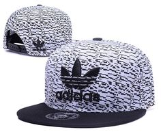 Men's Adidas Originals Clover 3D Embroidery Logo Customized Pattern Fashion Sports Baseball Snapback Hat - White / Black