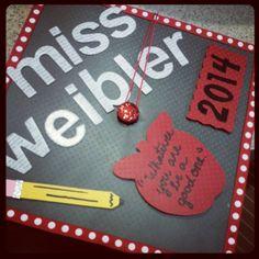 Teacher Graduation Cap #AbeLincoln #Teacher #CollegeGrad