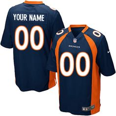 Nike Denver Broncos Customized Navy Blue Stitched Elite Youth NFL Jersey Nfl  Fans 740483088