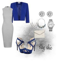 """""""Blue"""" by michellevc19 ❤ liked on Polyvore featuring GUESS, Calvin Klein, Michael Kors, Topshop, Mio, Rebecca Minkoff and Givenchy"""