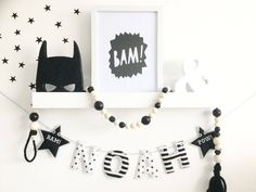 A personal favourite from my Etsy shop https://www.etsy.com/uk/listing/544008619/glow-in-the-dark-bunting-monochrome