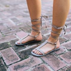 NWOT Free People 'Dahlia' Gray Lace up Sandal Strappy leather lace-up sandals with a T-strap and toe loop. Adjustable ankle strap. Size 39, will fit an 8.5. Worn in leather look. Offers welcome through offer tab. No trades. 10124171121 Free People Shoes Sandals