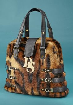Donna Salyers Fabulous Furs Leopard Faux Fur Signature Bag aac569fd7e8eb