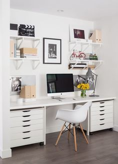 70 Beautiful & Inviting Home Office Decor Ideas that make you want to work - Idea Wallpapers , iPhone Wallpapers,Color Schemes Home Office Space, Home Office Design, Home Office Decor, House Design, Home Decor, Office Ideas, Office Designs, Office Spaces, Work Spaces