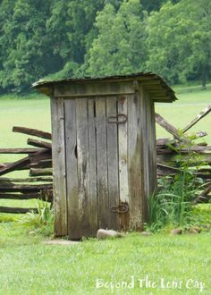 Rustic+Outhouse | Rustic Old Outhouse with Horseshoe Hinges 5x7 by BeyondTheLensCap