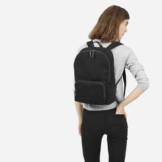 The smallest backpack in this collection fits just what you need. It features YKZ zippers.