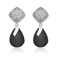 Regenz Black Tourmaline Filigree Earrings Brand New   Etsy Filigree Earrings, Pearl Earrings, Drop Earrings, French Clip, Black Tourmaline, Jewelry Findings, Silver Color, Diamond Cuts, Bronze