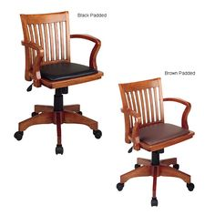 wooden office (banker's chair) from Overstock
