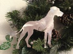 Great Dane with Natural Ears, Star, Dog Tree Topper, Holiday Decoration, Aluminum, Wreath Decoration, Christmas Tree Dog Decoration on Etsy, $30.00