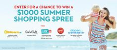 Enter for a chance to win $1000 summer shopping spree from diapers.com, casa.com, look.com, yoyo.com and bookworm.com.  Red Tricycle offers ideas for cool things to see, eat and do with your kids.