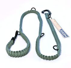 Adjustable Survival Dog Leash with Paracord (Parachute Cord) and Full Strength Climbing Carabiner on Etsy, $45.00