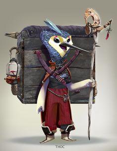 Character design - Creature design- Animal Design- Digital paint - Digital Art - Fantasy Art- The chulo Art.