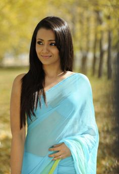 Beautiful Trisha #Saree Wallpapers