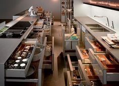 Kitchens , Futuristic Kitchen Design Idea by SieMatic S1 Kitchen : Siematic S1 Kitchen Multimatic Pull Out Drawers