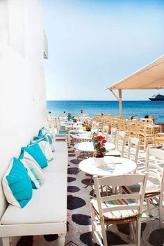 I sat right here in #Mykonos on my #birthday. #greece