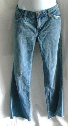 "A/X Armani Exchange Women's Distressed Jeans Size 12 Regular Inseam 28.5"" #XArmaniExchange #BootCutStraightLeg"