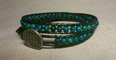 2 Rows Blue Azurite The Row, Blue Green, Bracelets, Jewelry, Jewlery, Duck Egg Blue, Jewerly, Schmuck, Jewels
