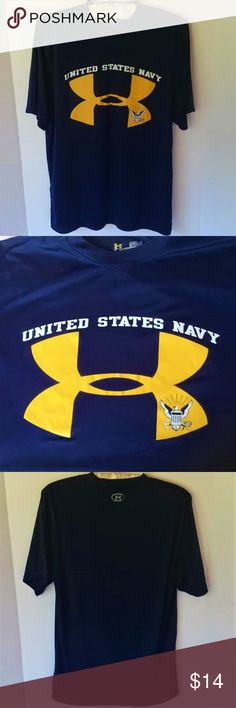 e30cc5f9 Under Armour US Navy heatgear blue shirt small GUC Men's Under Armour  heatgear catalyst shirt,