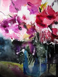 """Kerstin Sigwart, """"Pfingstrosen 4"""" With a click on 'Send as art card', you can send this art work to your friends - for free!"""