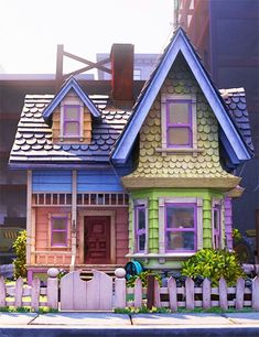 The house from UP...a play house that looks just like this!