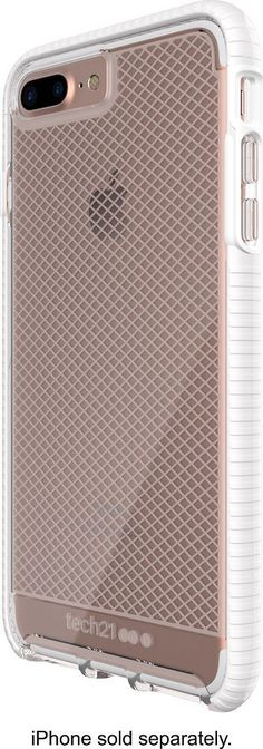 Tech21 - EVO Check Case for Apple® iPhone® 7 Plus - White/Clear, 47734BBR #iphone8plus, #iphone6spluscase,