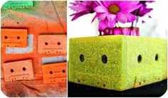 Spray paint cassettes to make smaller floral arrangements. | 29 Essentials For Throwing A Totally Awesome '90s Party