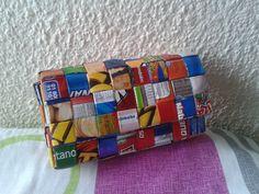 Monedero tejido cuadrado paquetes de papas